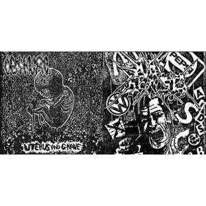 """Obskure (Bra) / No Sense (Bra) -  Uterus in Grave / Confused Mind 7""""-Split"""